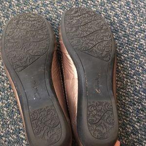 CLARKS BENDABLES Propose Pixie 2 Bronze Leather Flats Shoes $90 Womens Sz 11